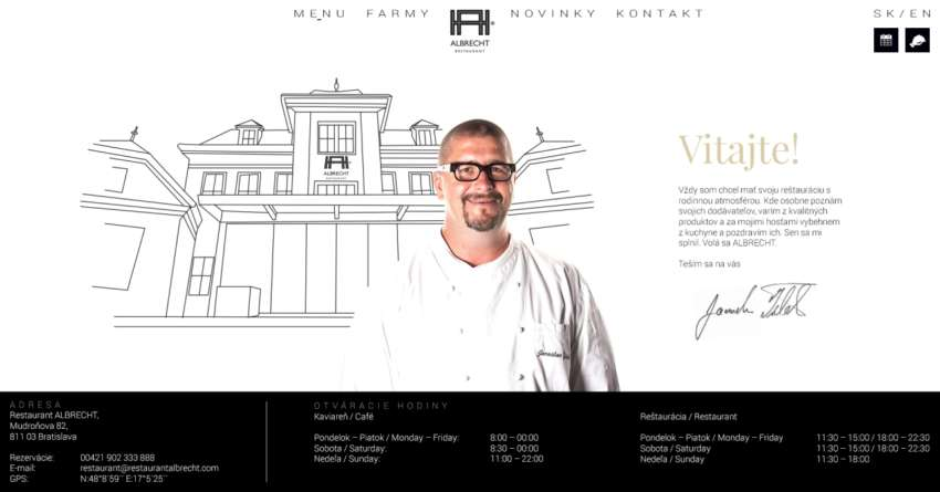 Albrecht restaurant - webdesign | Grafikerik