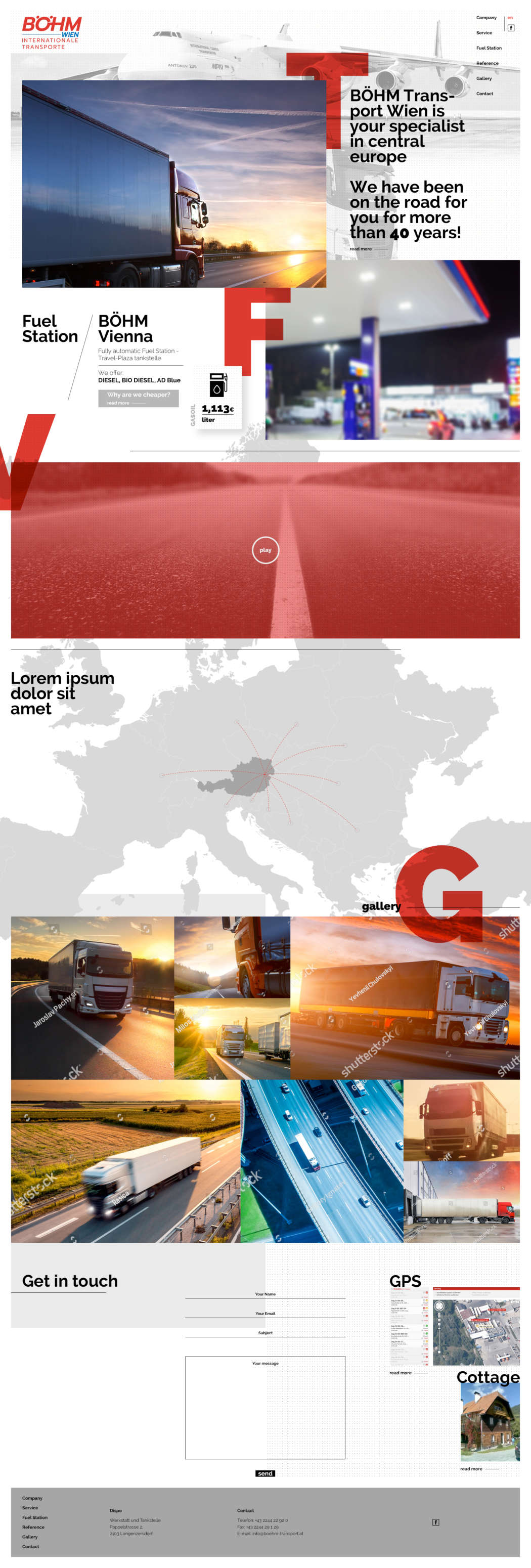 Böhm transport - webdesign | Grafikerik