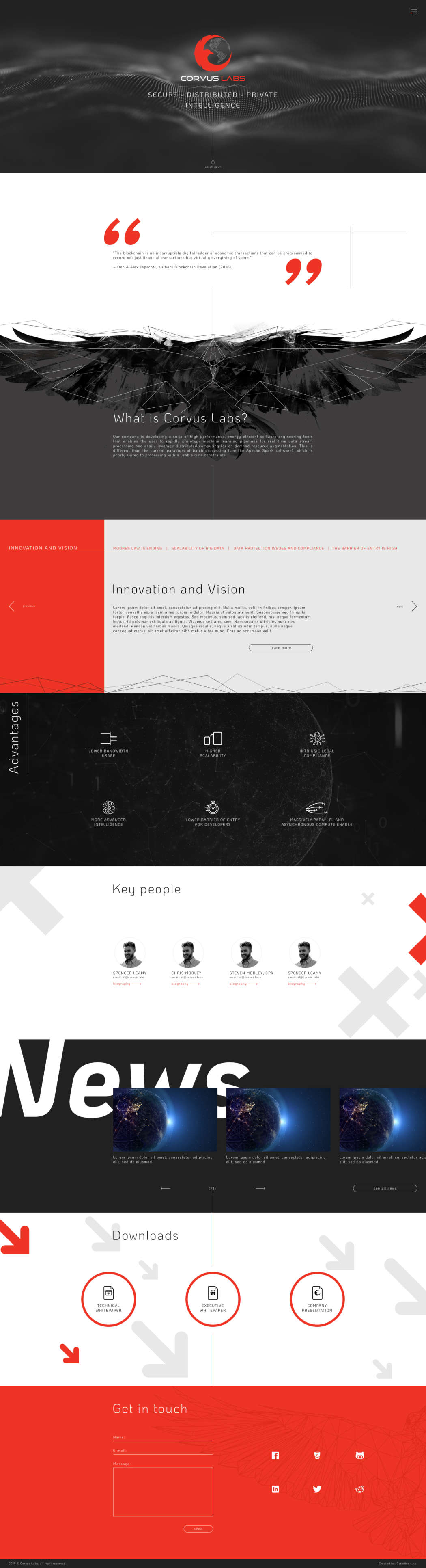 Corvus labs - webdesign | Grafikerik