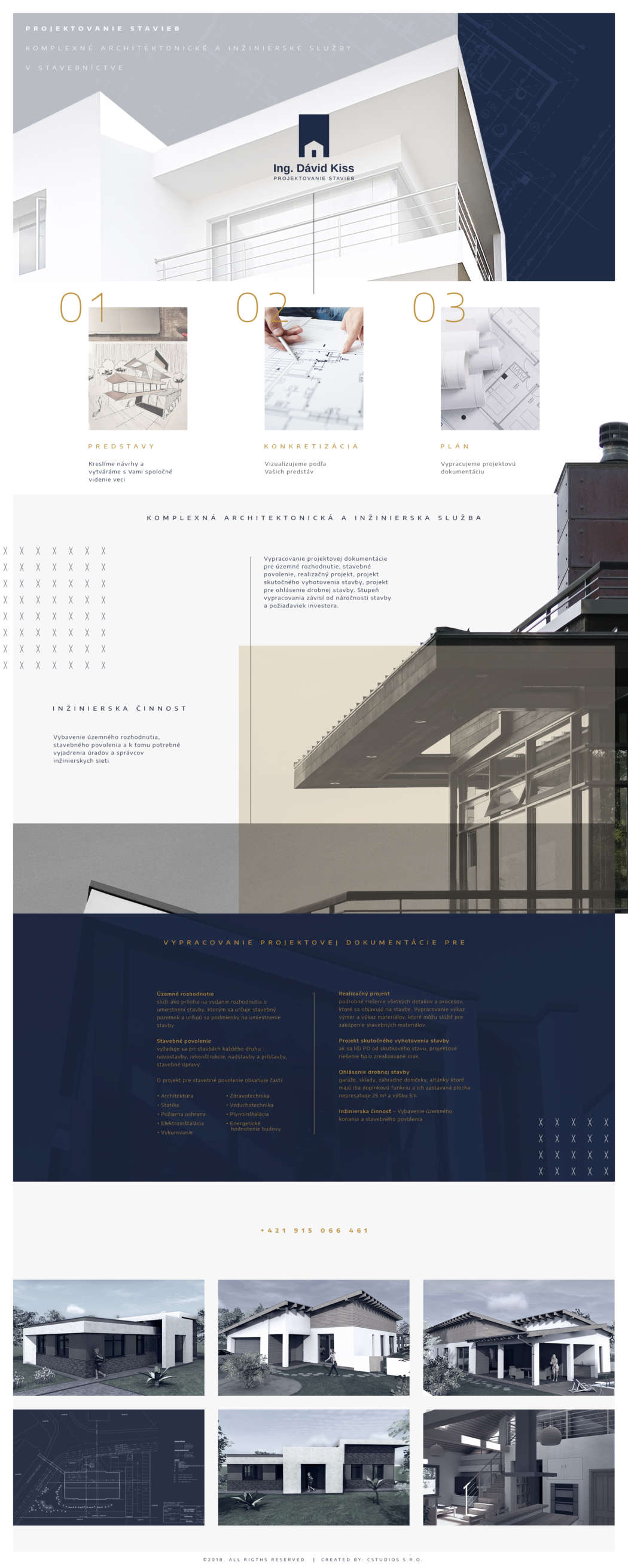 David Kiss architect - webdesign | Grafikerik