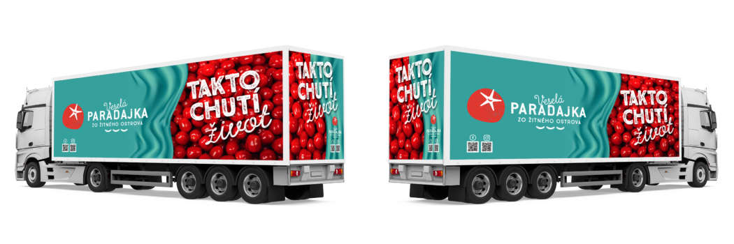 Happy Tomato truck decal - printdesign | Grafikerik
