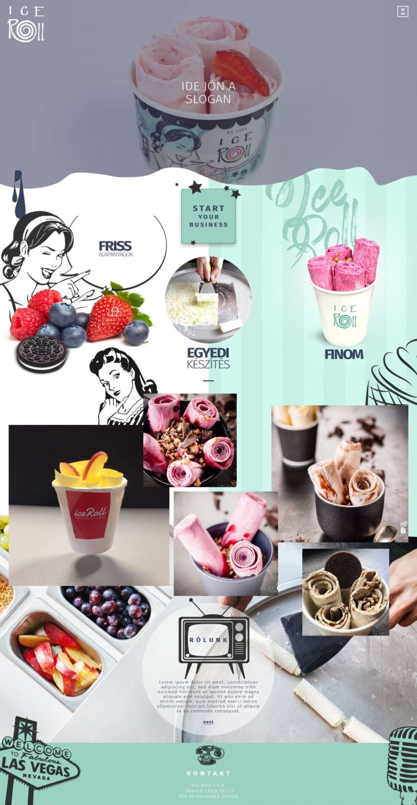 Ice Roll - webdesign | Grafikerik