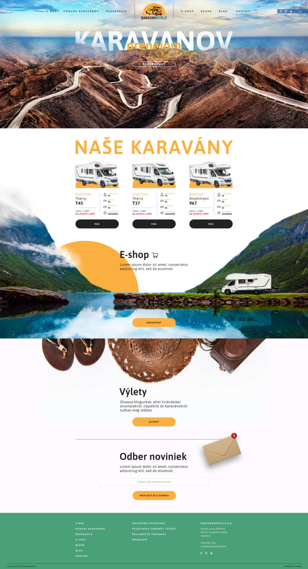 Karavanworld - webdesign | Grafikerik
