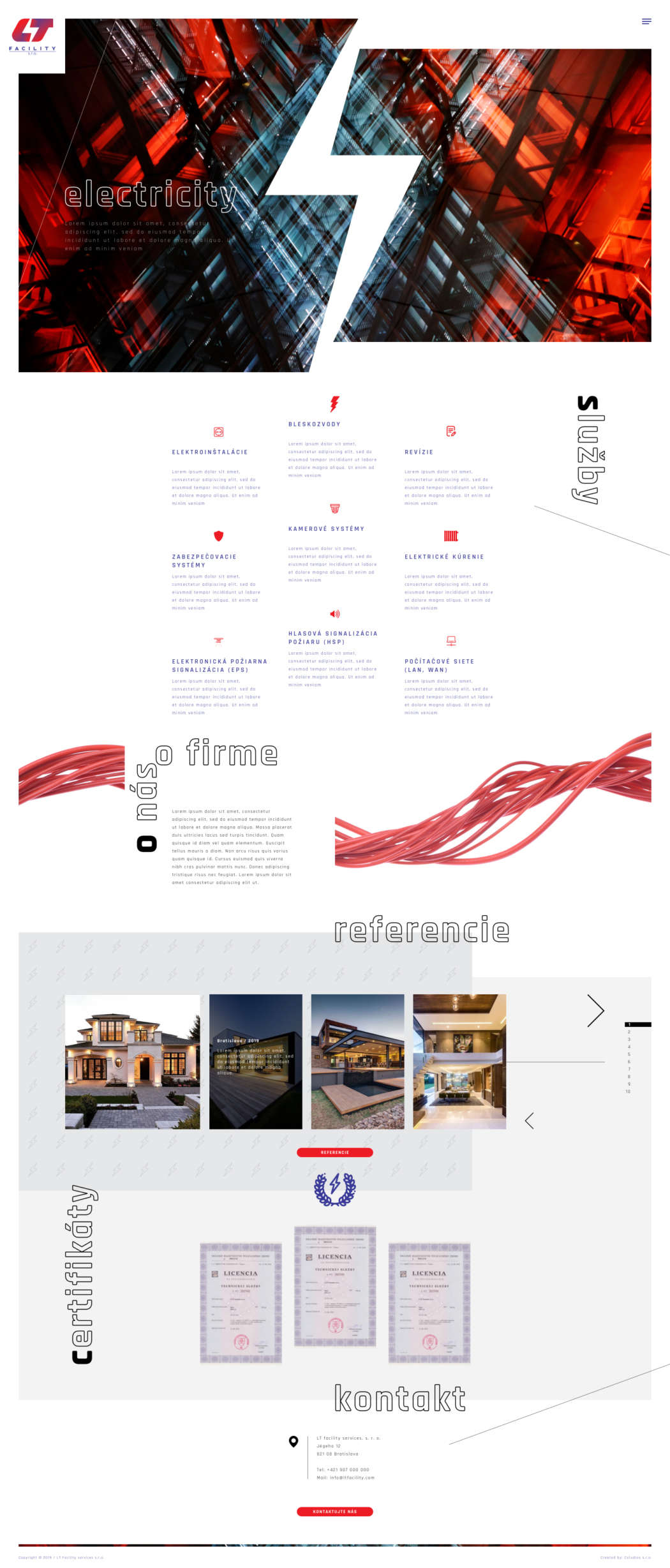 LT facility s.r.o. - webdesign | Grafikerik