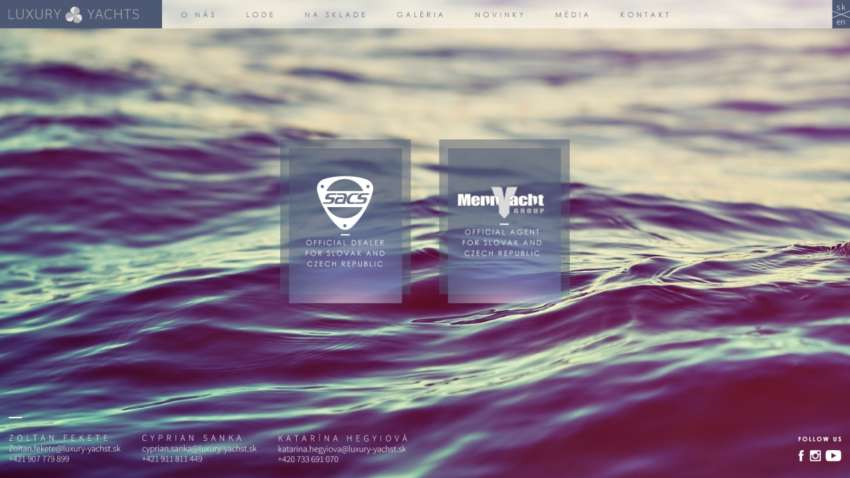 Luxury Yachts - webdesign | Grafikerik