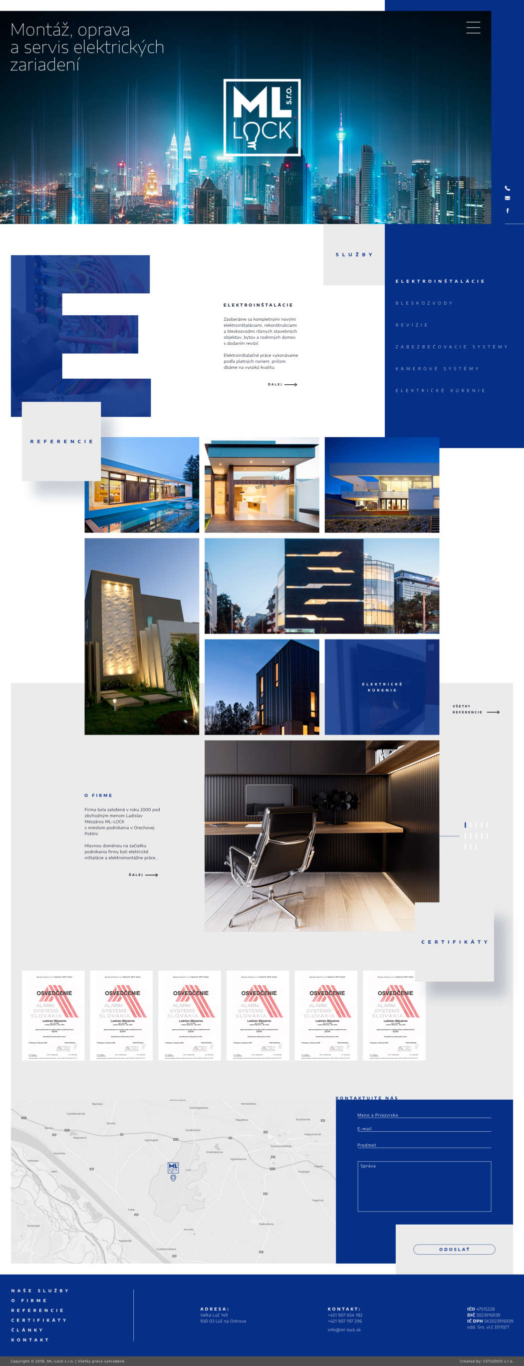 ML Lock - webdesign | Grafikerik