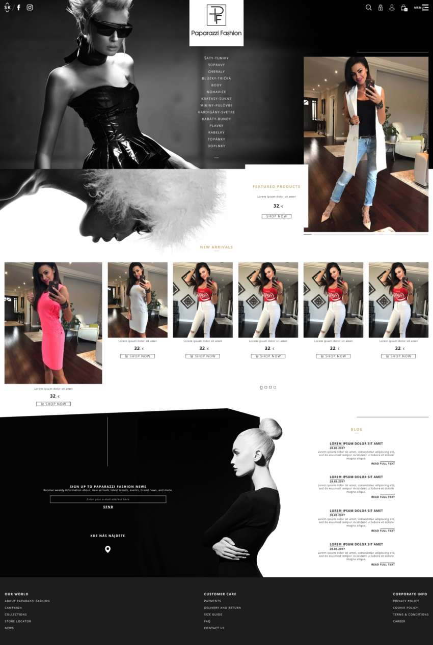 Paparazzi Fashion - webdesign | Grafikerik