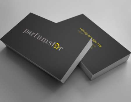 Parfumstar business card - printdesign | Grafikerik