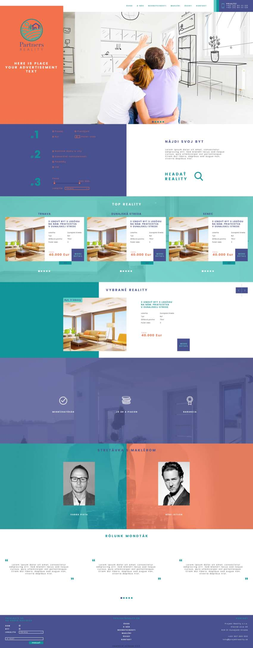 Partners - reality - webdesign | Grafikerik