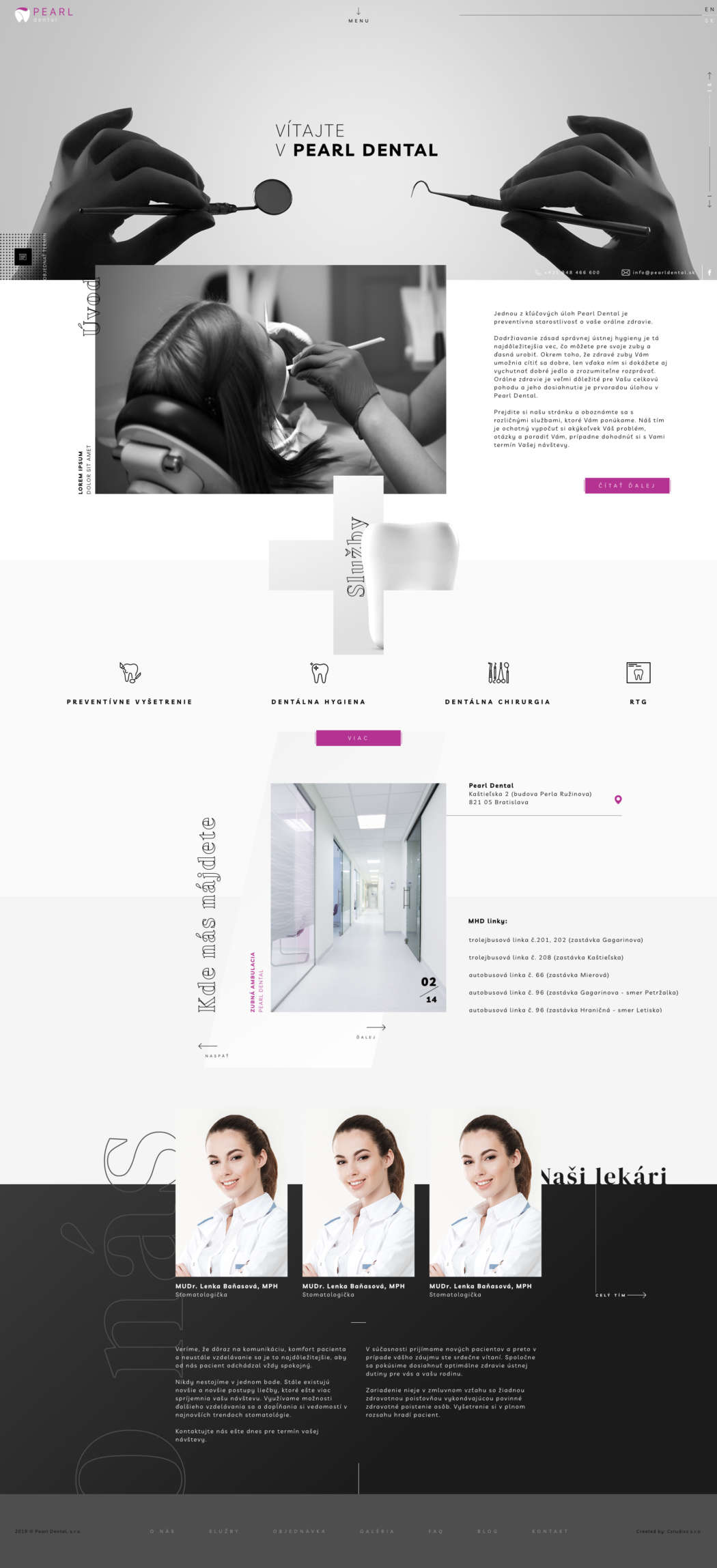 Pearl dental - webdesign | Grafikerik