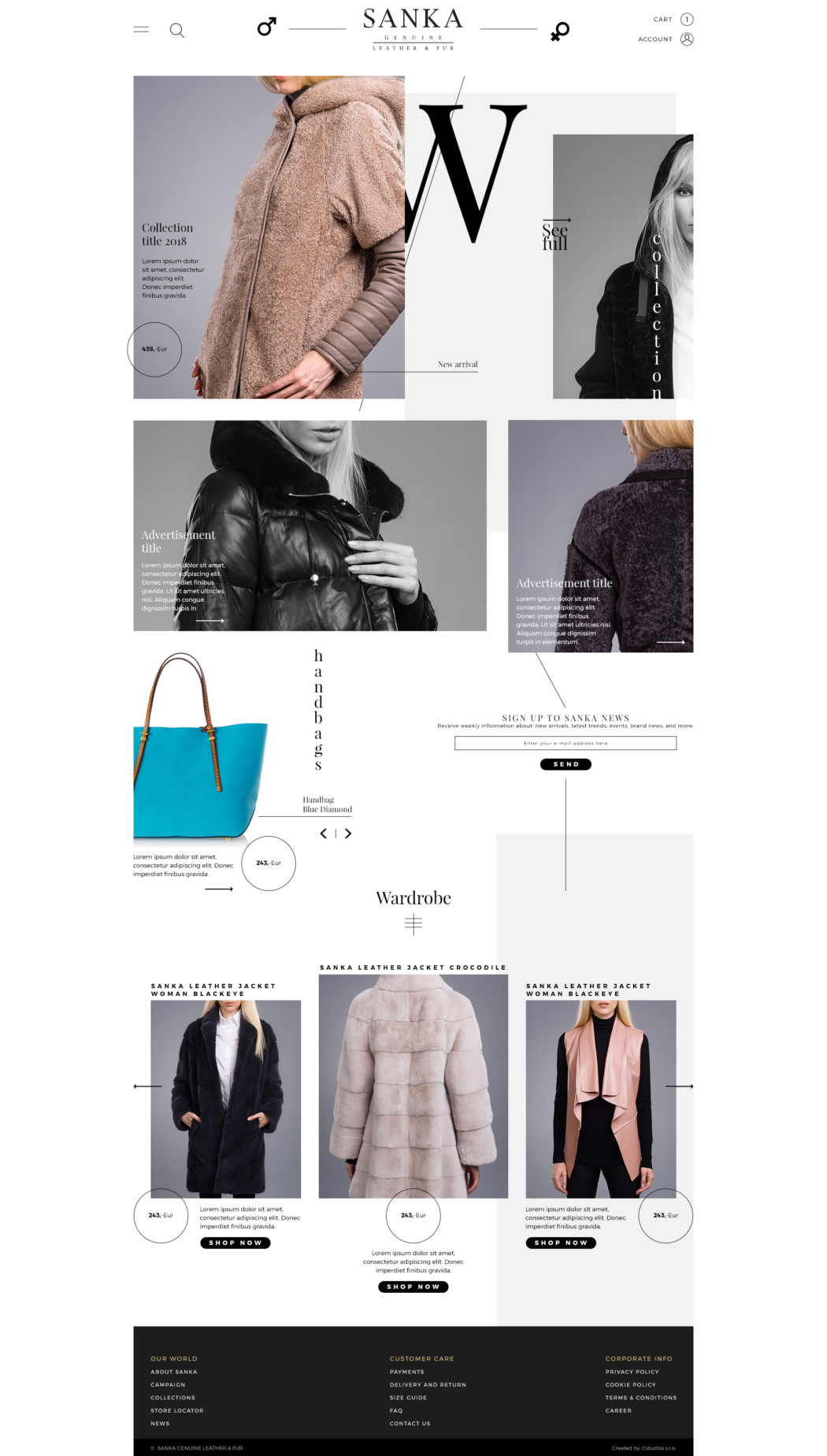 Sanka fashion - webdesign | Grafikerik