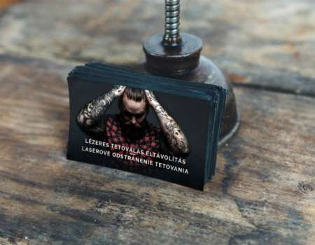 Tattoo remover business card - printdesign | Grafikerik